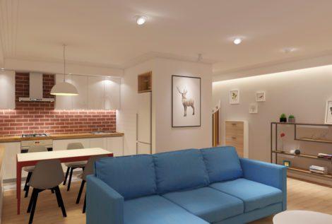 Дизайн-проект гостиной на Брамса