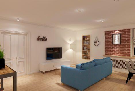 Дизайн гостиной для молодой семьи
