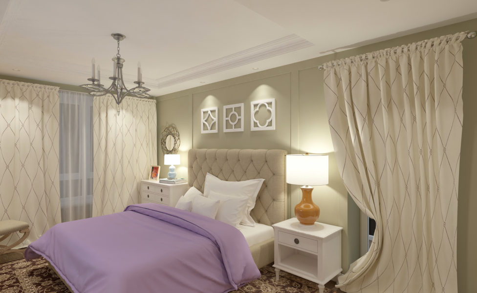 Дизайн интерьера спальни на Балтийском побережье