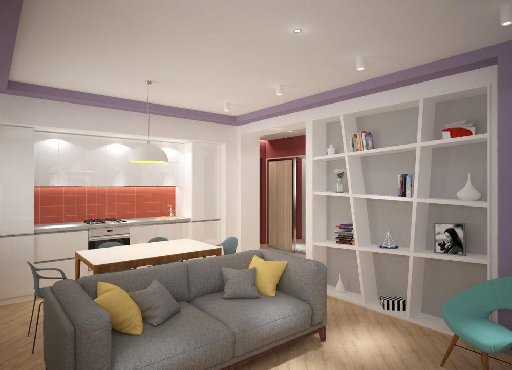Стильная двухуровневая квартира